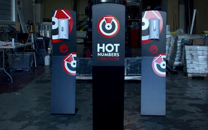 Hot Numbers Hand Sanitiser Stations